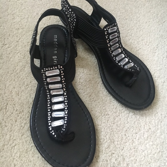 madden girl Shoes - Madden girl black sandals with jewels